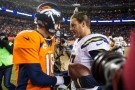 Quarterbacks Philip Rivers and Peyton Manning
