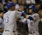 Salvador Perez and Alcides Escobar