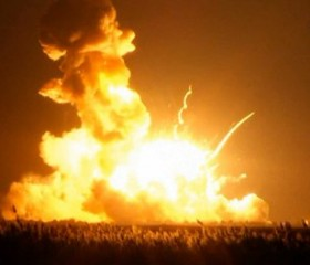 supply rocket explosion