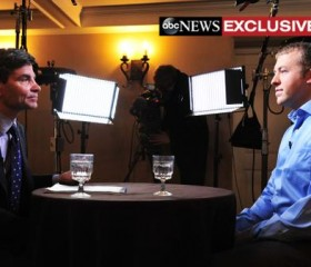 ABC News' George Stephanopoulos and Ferguson, Missouri police officer Darren Wilson