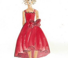 """Annie"" Costume Designer Renée Ehrlich Kalfus' Sketch for ""Annie for Target"" Collection"