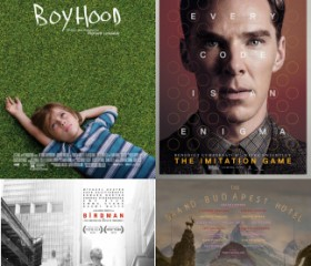 Boyhood/The Imitation Game/Birdman/The Grand Budapest Hotel