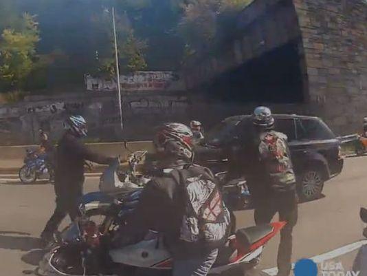 Bikers In Nyc Attack Driver Bikers Attack SUV