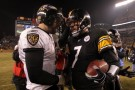 Pittsburg Steelers Quarterback Ben Roethlisberger and Baltimore Ravens Quarterback Joe Flacco
