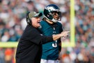 Philadelphia Eagles Quarterback Mark Sanchez and Head Coach Chip Kelly