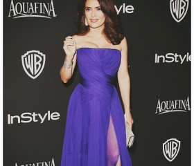 Salma Hayek 2015 golden globe awards