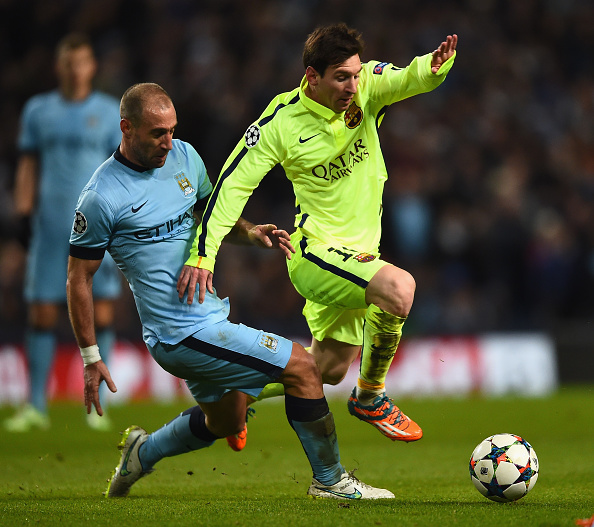 Defeated manchester city 2 1 in the first game of the champions league