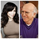 Rosie Perez and Larry David