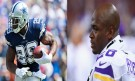 Dallas Cowboys Running Back DeMarco Murray and Minnesota Vikings Running Back Adrian Peterson