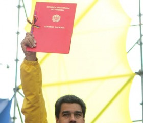 President Nicolas Maduro Holds Up Law Granting Him New Power