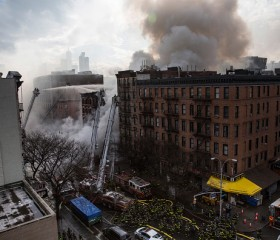New York Explosion and Fire