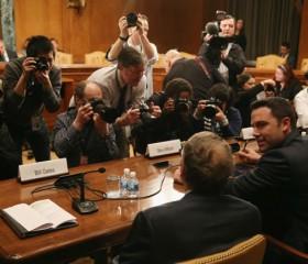 Before Congress, Affleck praises 'Batman co-star' Leahy