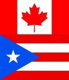 Canadian and Puerto Rican Flags