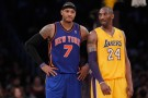 New York Knicks Carmelo Anthony and Los Angeles Lakers Kobe Bryant