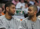 San Antonio Spurs Tony Parker and Tim Duncan