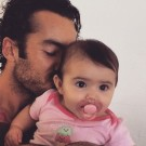 Aaron Diaz with His Daughter Regina