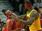 Chicago Bulls Forward Joakim Noah and Cleveland Cavaliers Forward LeBron James