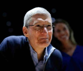 Tim Cook at a special Apple event at Yerba Buena Center for the Arts.