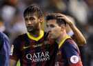 Barcelona Forwards Lionel Messi and Neymar