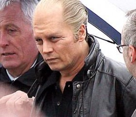 Johnny Depp as South Boston's James 'Whitey' Bulger