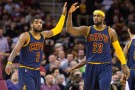 Cleveland Cavaliers Small Forward LeBron James and Kyrie Irving