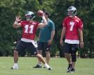 Philadelphia Eagles Quarterbacks Tim Tebow and Sam Bradford