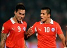 Chile Teammates Eduardo Vargas and Alexis Sanchez