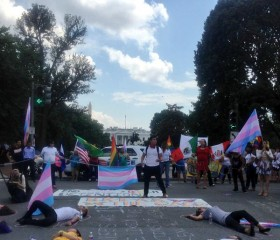 Undocumented Trans Immigrants Protest
