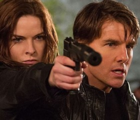 """Rebecca Ferguson and Tom Cruise star in """"Mission: Impossible - Rogue Nation."""""""