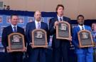 From left to right: Craig Biggio, John Smoltz, Randy Johnson and Pedro Martinez