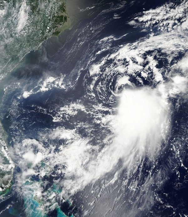 Tropical storm Franklin is seen in the North Atlantic hurricane basin ...