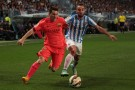 Barcelona Forward Lionel Messi Against Malaga