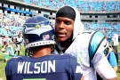Carolina Panthers QB Cam Newton and Seattle Seahawks QB Russell Wilson