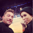 Chris Soules and Rumer Willis in Knicks game
