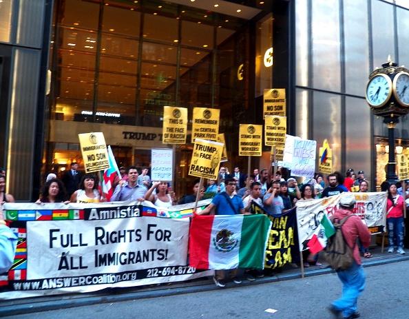 immigrants immigration protests donald trump
