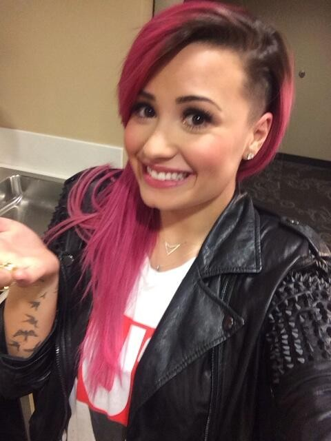 Demi Lovato New Hair 2014: Singer Sports Half-Shaved Hairstyle [See ...