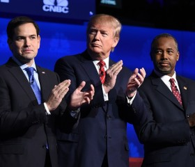 Marco Rubio, Donald Trump and Ben Carson GOP Republican debate