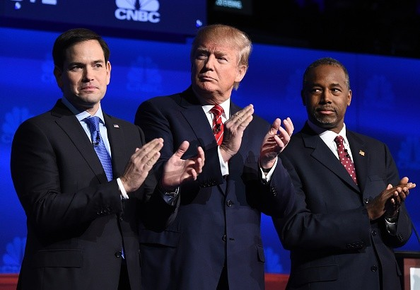 Marco Rubio, Donald Trump and Ben Carson GOP Republican debate