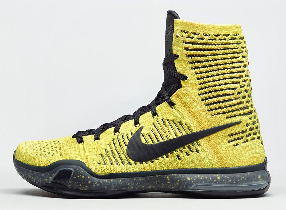 nike kobe 10 elite black yellow