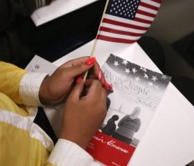 immigration immigrant naturalization U.S. US flag American