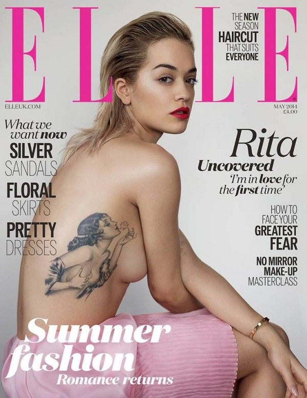 Rita Ora Fifty Shades Of Grey Topless Picture: Elle Magazine