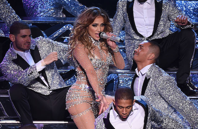 Jennifer Lopez Takes Bow in Vegas, Splits Open Pants