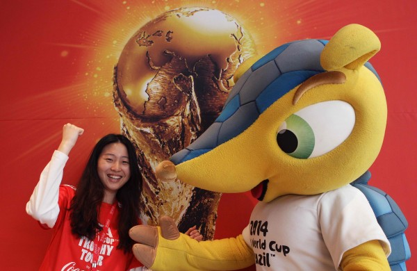 FIFA World Cup trophy arrives in United States ahead of 2014 tournament in ...