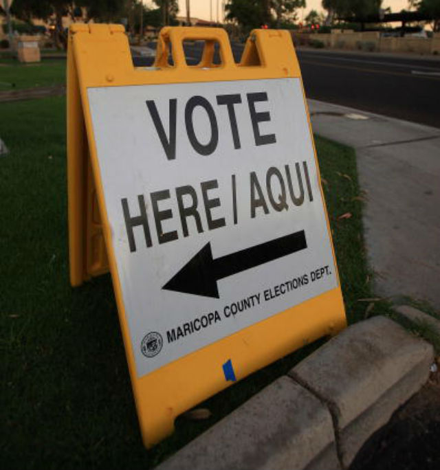 Latino polling place