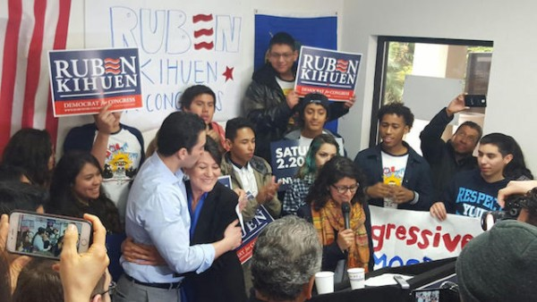 Nevada State Sen. Ruben Kihuen, candidate for Nevada's 4th Congressional District, seen during a campaign event.