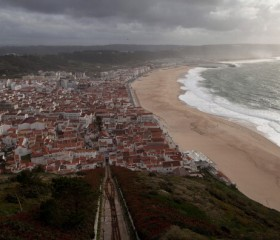 Coastal Life In Nazare