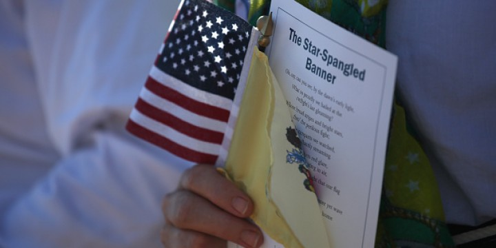 Immigrants Become American Citizens In Naturalization Ceremony At Liberty State Park