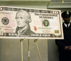 Newly-Designed Ten-Dollar Bill Goes Into Circulation
