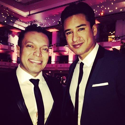 Carlos Anaya and Mario Lopez at the Hispanic Federation Gala 2014, April 23, 2014.