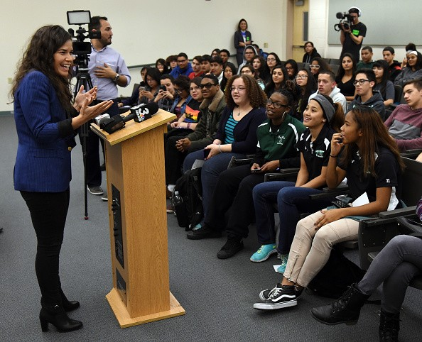 America Ferrera And Voto Latino Meet With Students In Las Vegas Area Ahead Of Nevada Caucuses